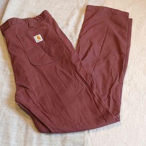 Carhartt straight fit burgandy work pants